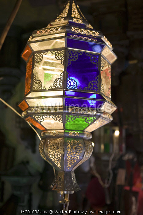 awl-images.com - Morocco / Lamp for sale in a souk, Marrakesh, Morocco