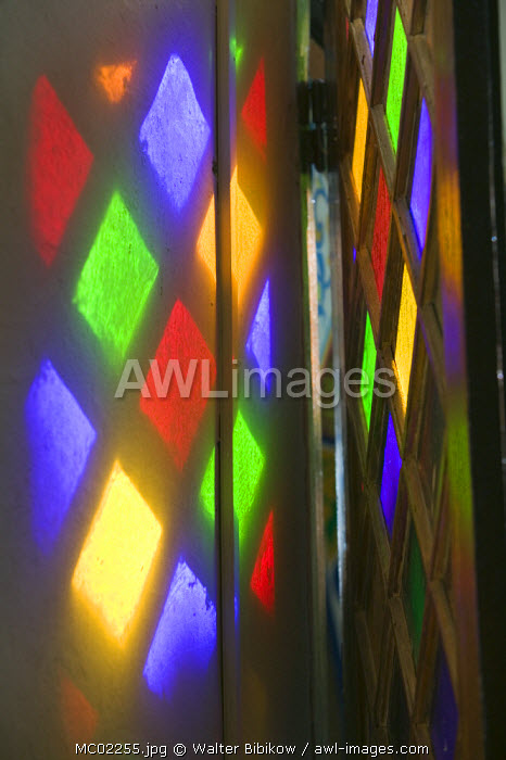 awl-images.com - Morocco / Stained Glass, Hotel Palais, Salam Palace, Taroudant, Morocco