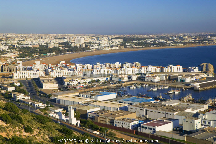 awl-images.com - Morocco / City & Commercial Port, Agadir, Atlantic Coast, Morocco