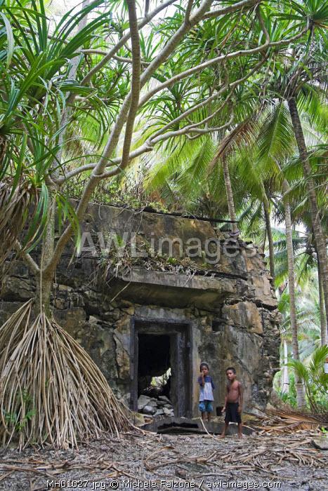 WWII Bunker, Emiej (Imeji) Island, Jaluit Atoll, Marshall Islands