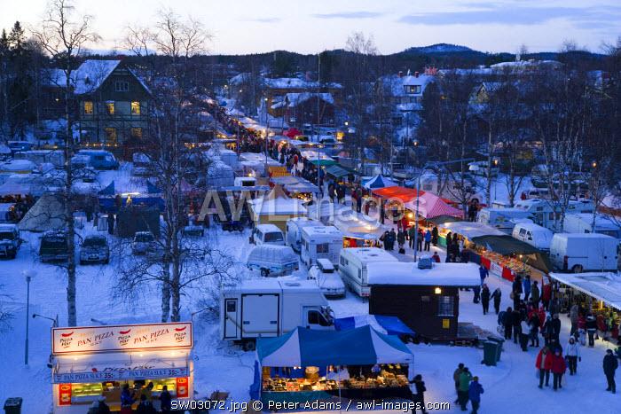 Winter fair, Jokkmokk, Norrbotten, Northern Sweden