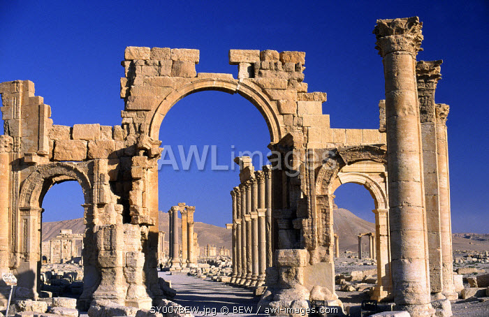 Triumphal Arch, Palmyra, Syria