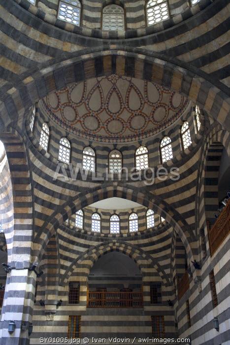 Interior of karavansarai, Damascus, Syria
