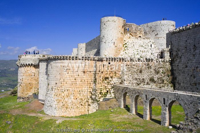 Crusader castle Krak des Chevaliers (1140-1260), Syria
