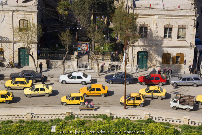 View from Aleppo citadel, Syria