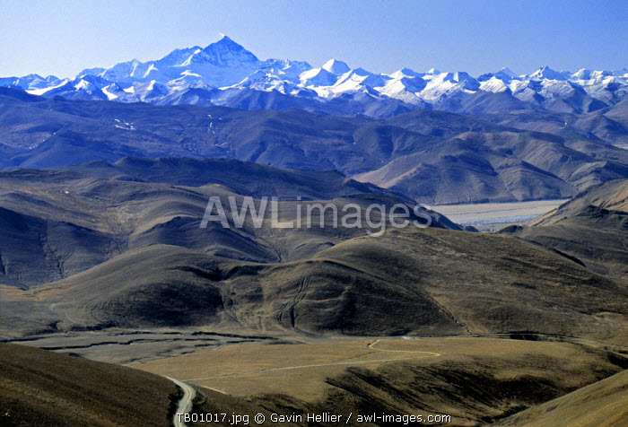 Tibet landscape looking towards Nepal