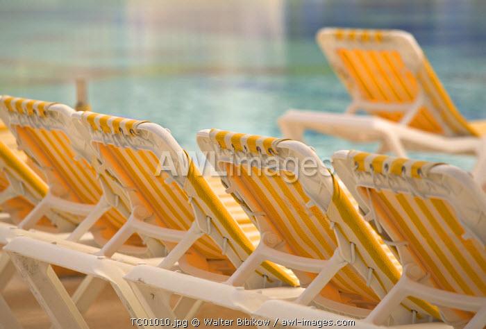 Pool chairs, Turks & Caicos, Caribbean