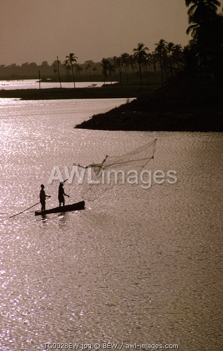 People fishing, Aneho, Togo