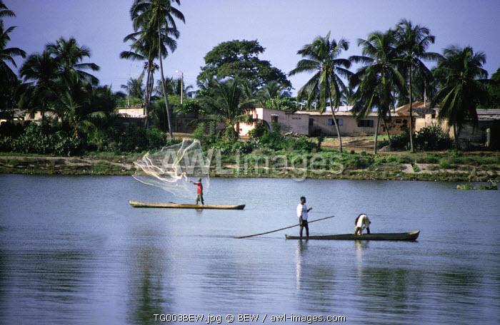 People fishing, Aneho, Togo
