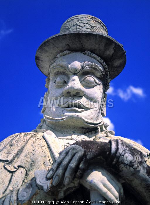 Farang Guard Statue, Wat Pho, Bangkok, Thailand