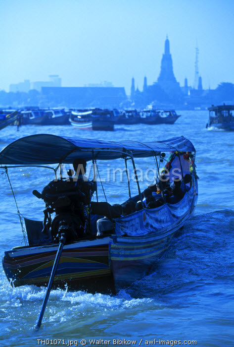 Boat on Chao Phraya river, Bangkok, Thailand