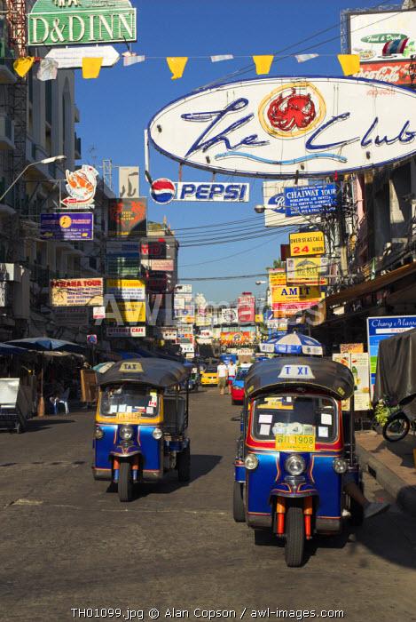 Tuk-Tuks, Khao San Road, Bangkok, Thailand