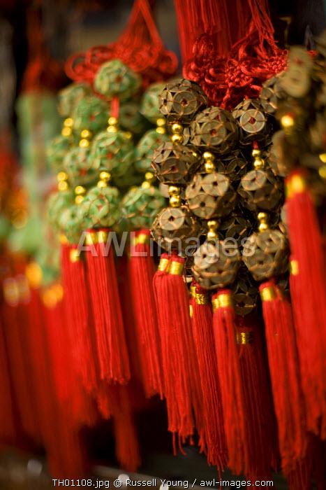 Red Chinese tassles, Bangkok Thailand