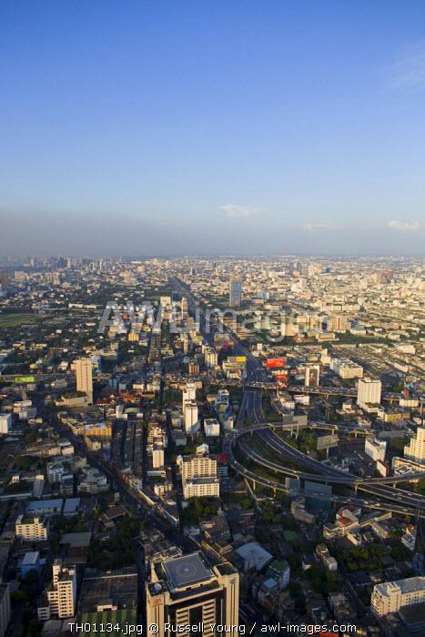 Aerial view over Bangkok, Thailand