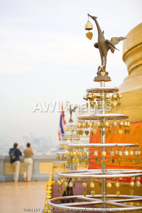 Temple bells, Golden Mount, Wat Saket temple, Bangkok, Thailand