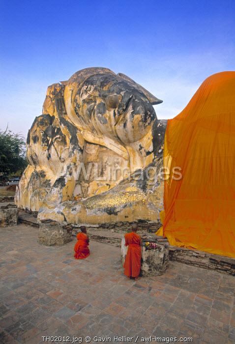 Reclining Buddha, Ayutthaya, Thailand