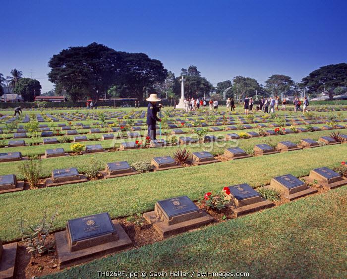 Allied War Cemetery, nr Bridge on the River Kwai, Kanchanaburi, Thailand