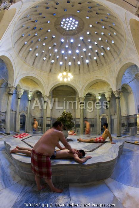 Centre Marble (Gobektasi), Cagaloglu Hamam (Turkish Bath), Istanbul, Turkey