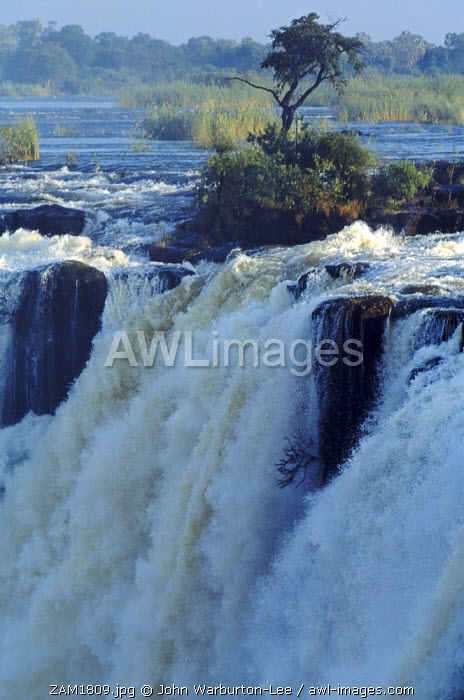 Zambia, Livingstone. The Victoria Falls - seen from the Zambian side.