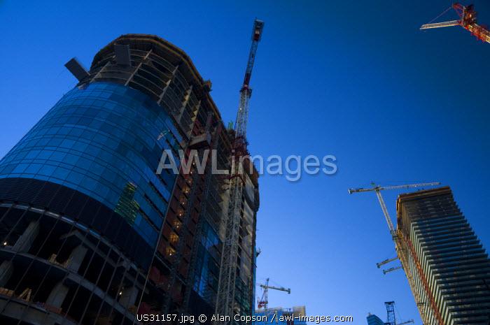 USA, Nevada, Las Vegas, MGM Mirages City Center, under construction