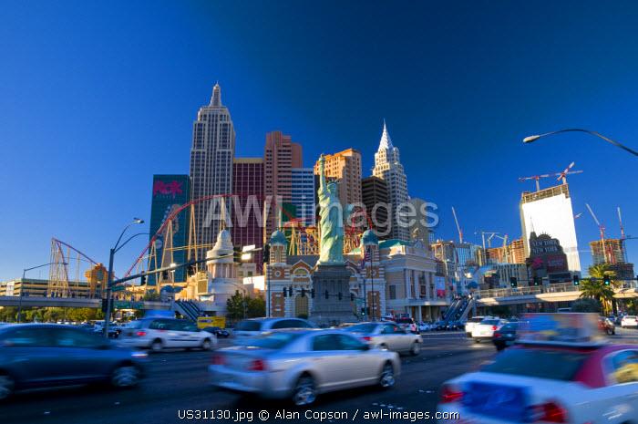 USA, Nevada, Las Vegas, New York New York Hotel and Casino