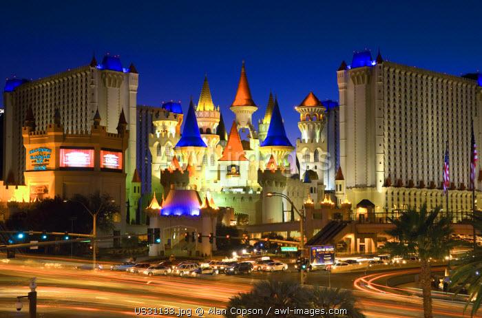 USA, Nevada, Las Vegas, Excalibur Hotel and Casino