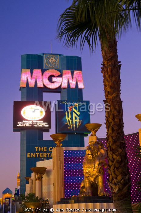 USA, Nevada, Las Vegas, MGM Grand Hotel and Casino