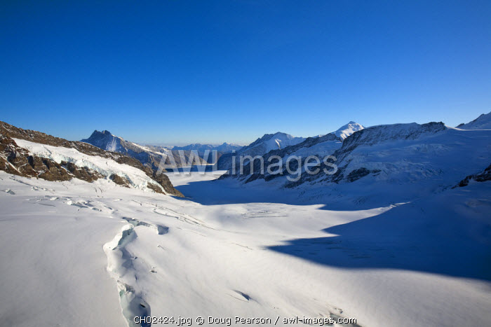 Aletsch Glacier, Jungfraujoch, Top of Europe,  Grindelwald, Bernese Oberland, Highlands, Switzerland