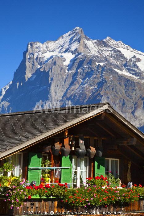 Traditional House, Grindelwald, Berner Oberland, Switzerland