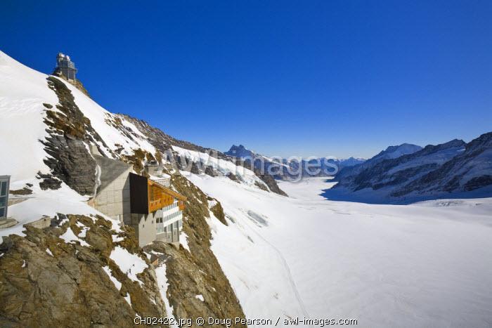Sphinx Observatory & Aletsch Glacier, Jungfraujoch, Top of Europe, Grindelwald, Bernese Oberland, Switzerland