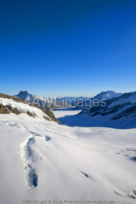Aletsch Glacier, Jungfraujoch, Top of Europe,  Grindelwald, Bernese Oberland, Highlands, Switzerland