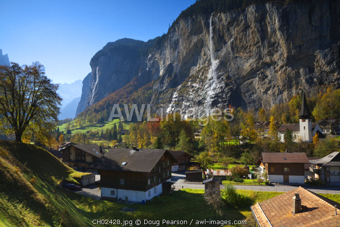 awl-images.com - Switzerland / Lauterbrunnen Church, Berner Oberland, Switzerland