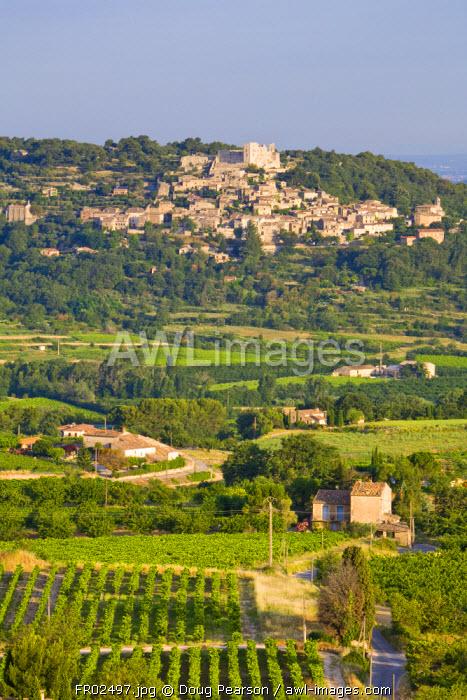 View Towards Lacoste from Bonnieux Vaucluse, Provence Alpes Cote D Azur, France