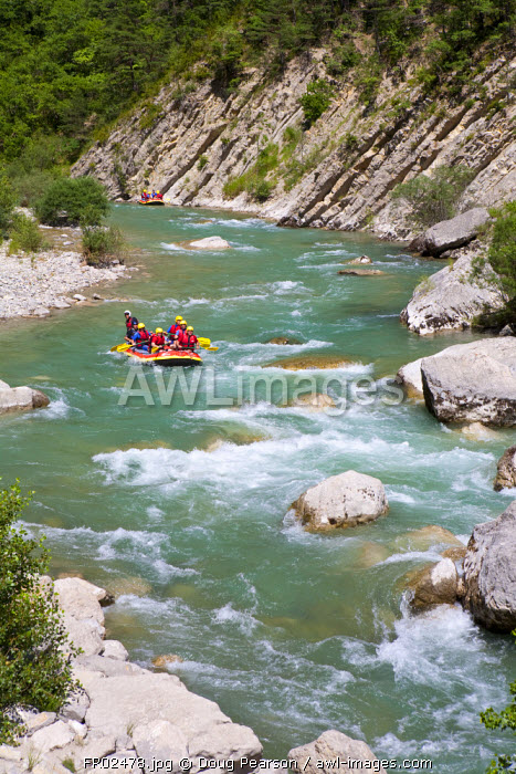 White Water Rafting, Gorges du Verdon, Provence-Alpes-Cote d'Azur, France