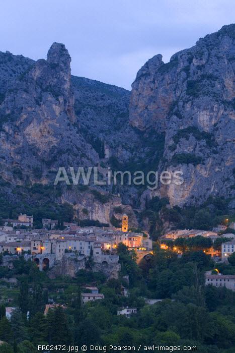 Moustiers Sainte Marie, Alpes de Haute Provence, France