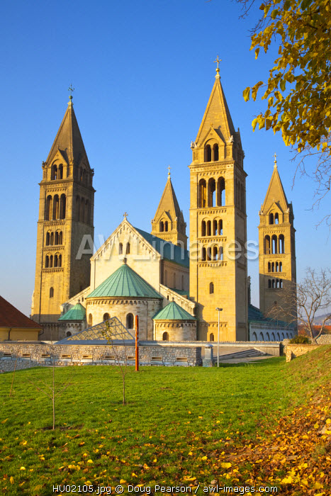 Pecs Cathedral, Pecs, Southern Transdanubia, Hungary