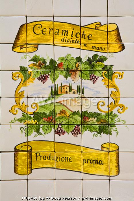 Shop Sign, Montalcino, Tuscany, Italy