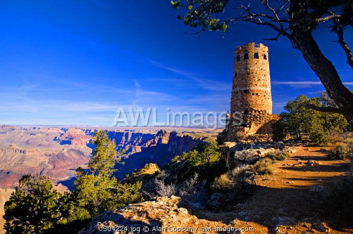 USA, Arizona, Grand Canyon, Desert View Watchtower