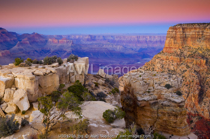 USA, Arizona, Grand Canyon, from Moran Point