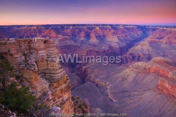 USA, Arizona, Grand Canyon, from Mather Point