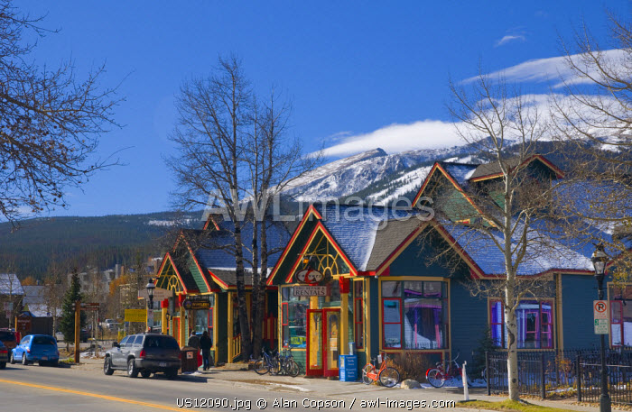 USA, Colorado, Breckenridge, Main Street