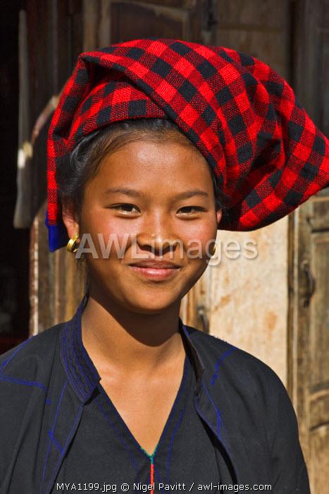 Myanmar, Burma, Lake Inle. A pretty, young Pa-O woman at Kya-Toon village.