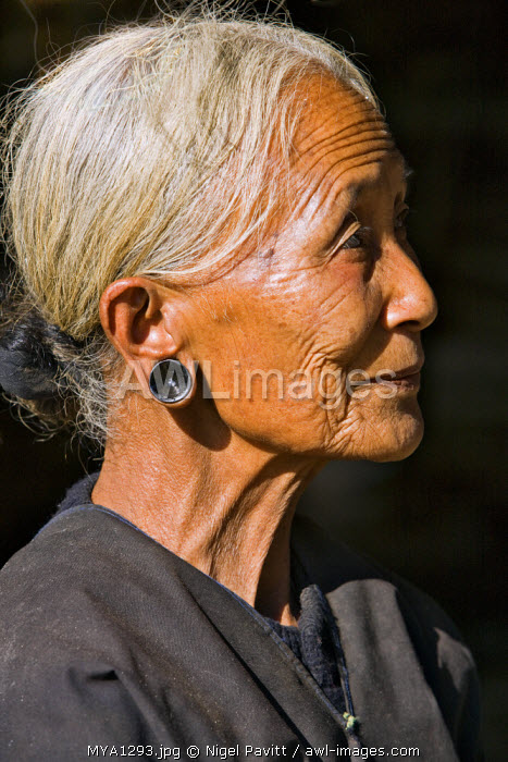 Myanmar, Burma, Wan-seeing.  An old Loi woman at Wan-seeing village.  The Loi, a Hill Tribe, live in seven villages scattered over a large forested area of the Shan Mountains.