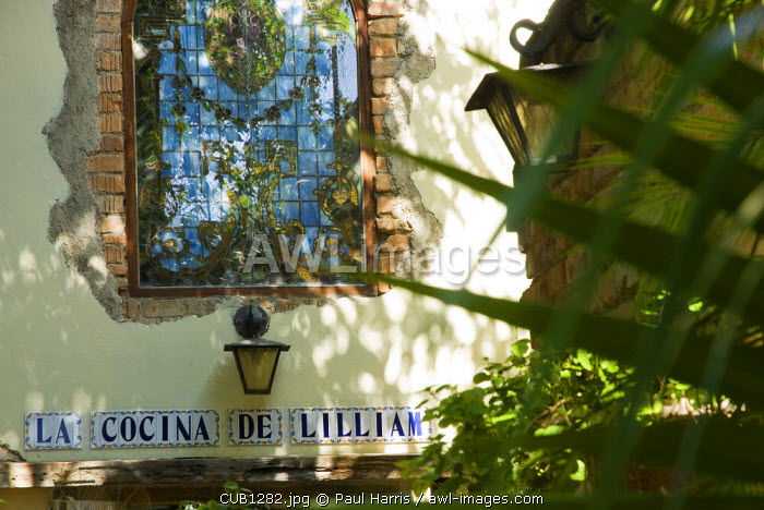 Cuba, Havana. La Cocina de Lilliam. Residential Restaurant in the western district of Miramar, Havana, Cuba