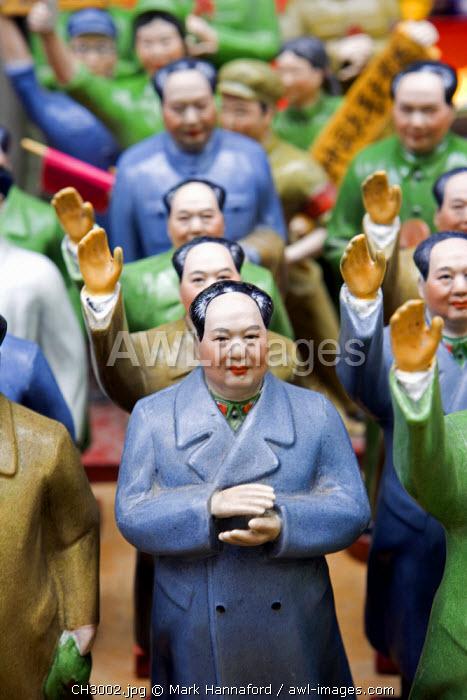 China, Hong Kong.  Chinese Chariman Mao souvenirs for sale in Hong Kong street market