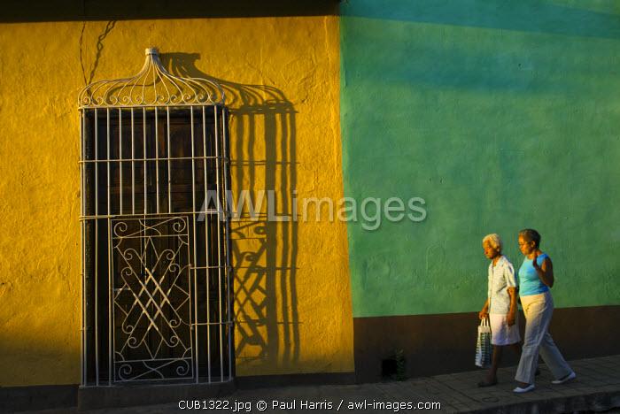 Cuba, Trinidad. Painted town walls, Trinidad
