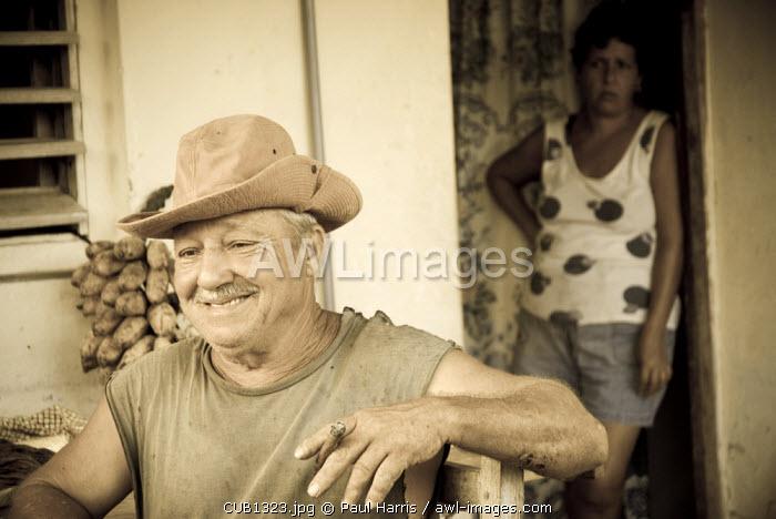 Cuba, Vinales. Tobacco farmer, Vinales, Cuba.