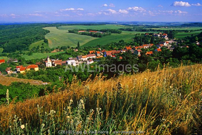 Czech Republic. View from the Palava Hills, Mikulov
