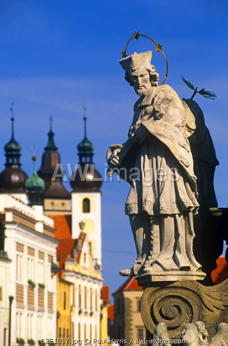 Czech Republic. Zacharia Hradec Square, Telc, South Moravia