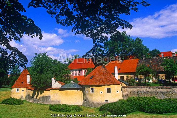 Czech Republic. Residential buildings of Trebon